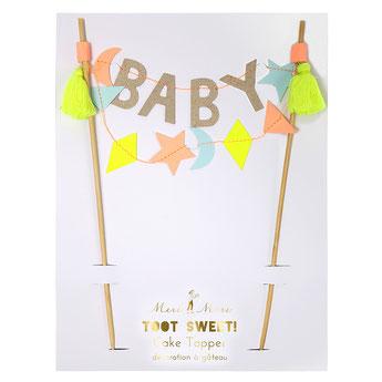 DECO GATEAU BABY SHOWER ANNIVERSAIRE- BABY SHOWER BIRTHDAY DECORATION