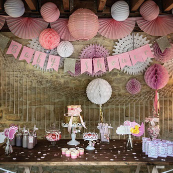 Baby Shower Fille- deco baby shower fille- girl baby shower decoration