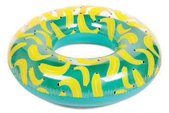 BOUEE RONDE BANANE SUNNYLIFE-POOL RING BANANAS