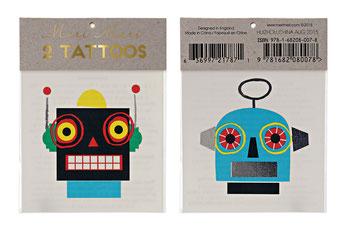 tatouages robots deco anniversaire espace, astronaute