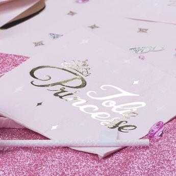 deco premier anniversaire fille thème princesse rose et or