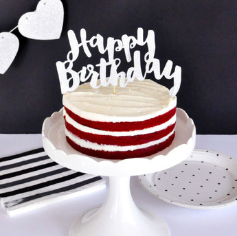 DECORATION GATEAU HAPPY BIRTHDAY- CAKE TOPPER HAPPY BIRTHDAY