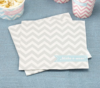 DECO ANNIVERSAIRE GARCON CHEVRON PASTEL- BOY PARTY DECORATION