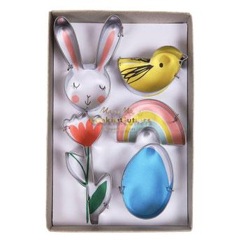 Kit de 5 emporte pièces de printemps meri meri deco pâques- easter party decoration
