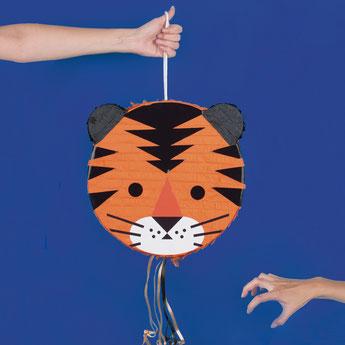 pinata tigre- anniversaire animaux de la junge, savane, safari