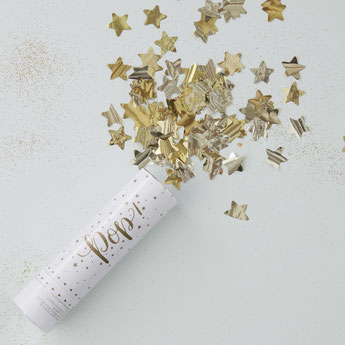 CANON A CONFETTIS ETOILES DOREES DECO ANNIVERSAIRE- PARTY DECORATION