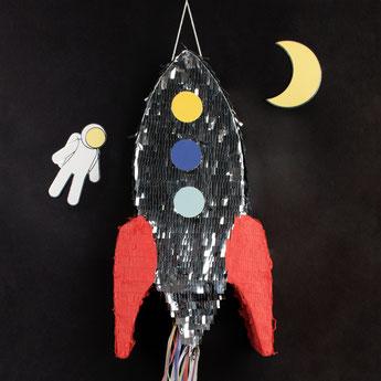 Deco anniversaire garçon thème espace, astronaute- boy party decoration space story