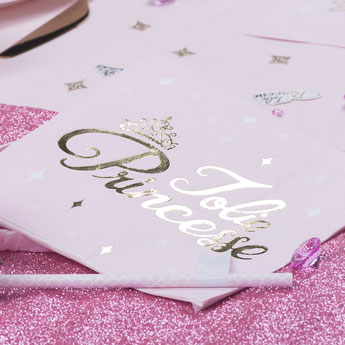 DECO BAPTEME THEME PRINCESSE ROSE ET OR