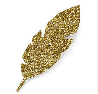 PLUMES DOREES POUR DECORATION TABLE FETE - GOLD FEATHER PARTY DECORATION