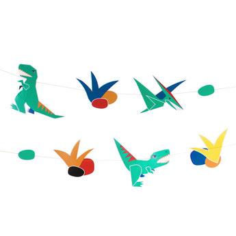 guirlande dinosaures déco anniversaire dinosaures