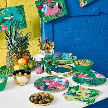 bapteme-theme-tropical-decoration-de-table-tropicale