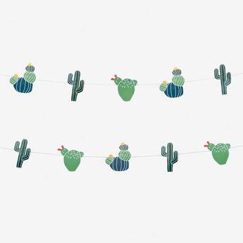 guirlande cactus déco fête tropicale, anniversaire indien