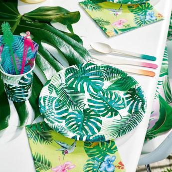 decoration-anniversaire-theme-tropical-vaisselle-jetable-feuilles-palmier.jpg
