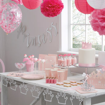 THEME PRINCESSE ANNIVERSAIRE 1 AN- PRINCESS STORY FIRST BIRTHDAY PARTY DECORATION