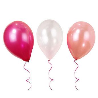 ballons-baby-shower-unis-latex-ballons-roses