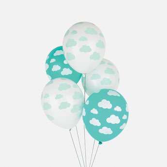 BALLONS NUAGES DECO BABY SHOWER DECO ANNIVERSAIRE- CLOUDS BALLOONS BABY SHOWER PARTY DECORATION