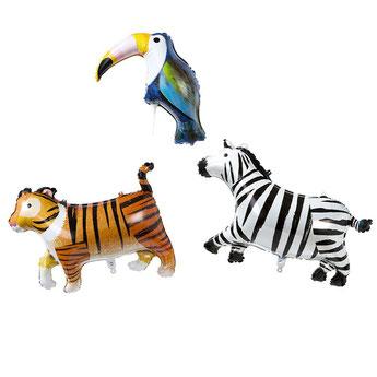 ballons métalliques animaux de la jungle- deco anniversaire jungle