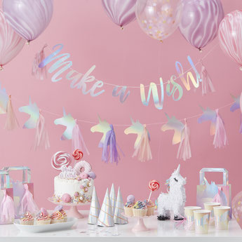 DECORATION BAPTÊME FILLE THEME LICORNE- UNICORN BAPTISM PARTY