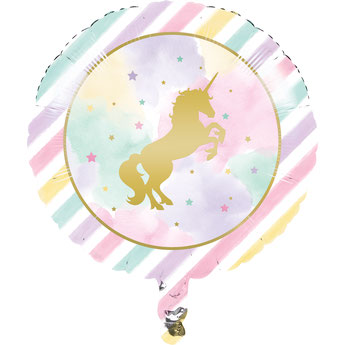 BALLON LICORNE PASTEL DECO ANNIVERSAIRE LICORNE- UNICORN PARTY DECORATION BALLOON