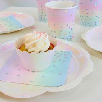 déco baby shower baptême anniversaire thème irisé licorne ou sirène- unicorn or mermaid party decoration