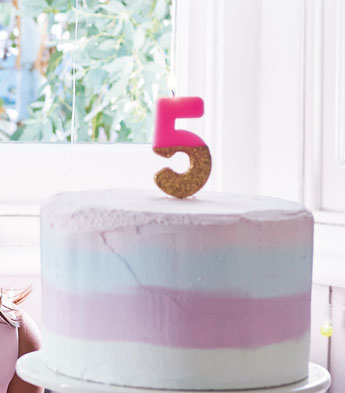 bougie chiffre deco anniversaire - number candle birthday party decoration