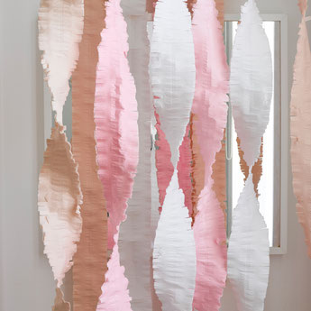 guirlandes en papier pastel deco fete anniversaire- pastel garland