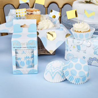 kit cupcaakes baby shower garçon - déco gateau baby shower
