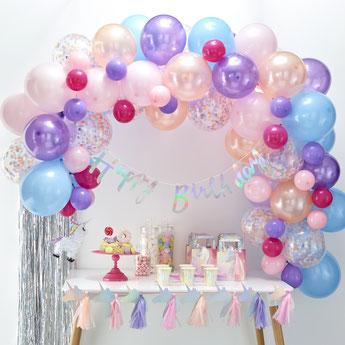 ballons-anniversaire-fille-kit-arches-ballons-pastels