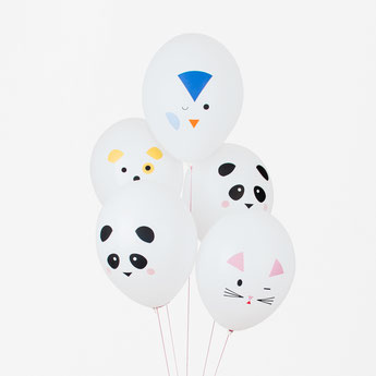 ballons animaux kawai deco baby shower anniversaire - animals balloons party decoration
