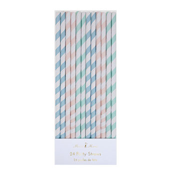PAILLES PASTELS MERI MERI DECO FETE PASTEL- PASTEL STRAWS PASTEL PARTY DECORATION