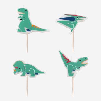 bougies dinosaures deco anniversaire dinosaures