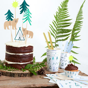 DECO ANNIVERSAIRE GARCON THEME INDIEN-ANIMAUX DE LA FORET BOY PARTY DECORATION