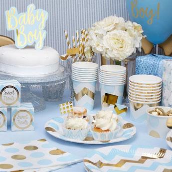 theme-bapteme-garcon-bleu-ciel-or-decoration