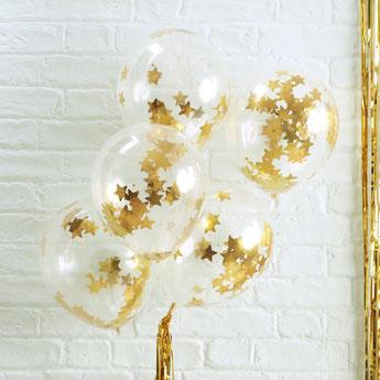 bapteme-theme-blanc-or-bapteme-fille-garcon-ballons-etoiles-dorees