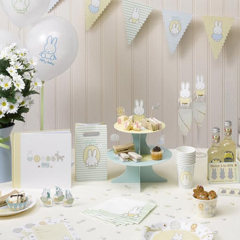 DECO ANNIVERSAIRE 2 ANS theme-bapteme-lapin-miffy-decoration