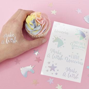 tatouages cadeaux invités baby shower anniversaire licorne - unicorn tattoos party decoration