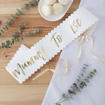 accessoires photobooth Baby Shower - écharpe future maman