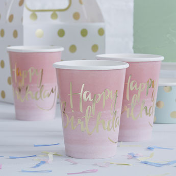 decoration de table anniversaire fille - gobelets anniversaire fille