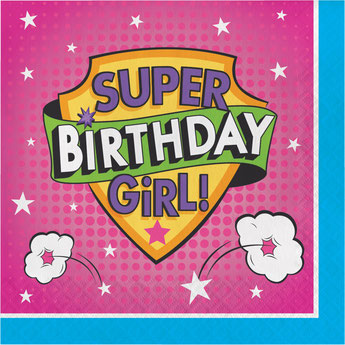 deco anniversaire super héros fille- supergirl birthday