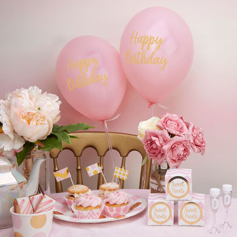DECORATION BABY SHOWER BAPTEME ANNIVERSAIRE ROSE ET DORE- PARTY DECORATION BIRTHDAY BABY SHOWER PINK AND GOLD