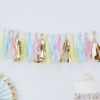 guirlande tassel pastel deco baby shower bapteme anniversaire- pastel party decoration