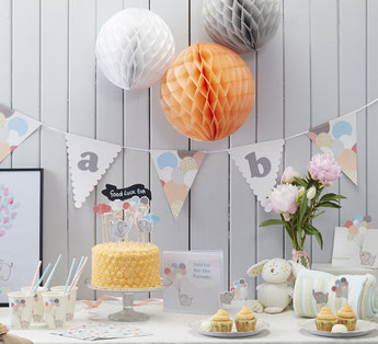 DECO BABY SHOWER PASTEL PETIT ELEPHANT- PASTEL BABY SHOWER DECORATION