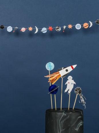 deco anniversaire astronaute garçon, thème espace - space birthday party