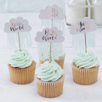 DECO BABY SHOWER HELLO WORLD fille ou garçon- BABY SHOWER PARTY DECORATION BOY OR GIRL