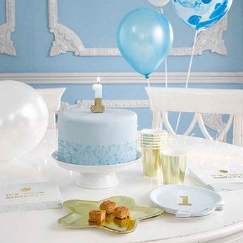 anniversaire-1-an-bleu-ciel-et-or