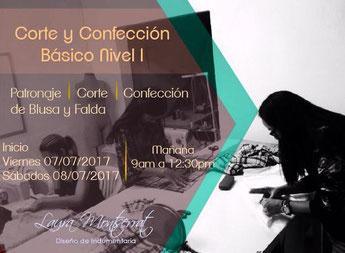 Curso de Corte y confección, nivel I - Laura Montserrat Indumentaria
