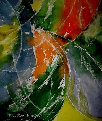 Aquarell, aquarellbild, grün, orange, blau, gelb, bild, malen, malerei, kunst, geko, dekoration, wandbild, abstrakt, art