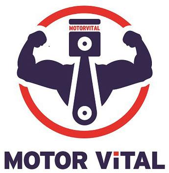 Das Logo von MOTOR VITAL stellt den Pleuel eines Motors als illustrieren Muskelmann dar. / Bildquelle: MOTOR VITAL