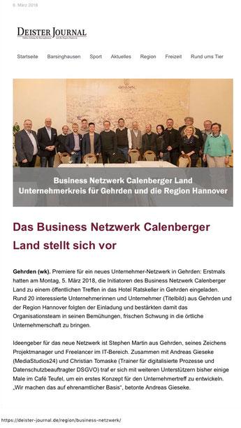 Business Netzwerken in Gehrden und dem Calenberger Land