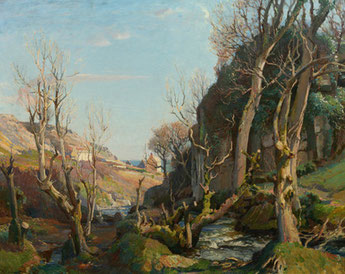 Oil on canvas by Lamorna Birch- In Our Old World Valley